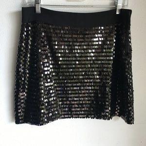 Milly Black Sequin Skirt